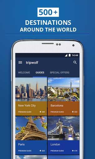 تطبيق Tripwolf - دليلك السياحي لأفضل الأسفار والرحلات