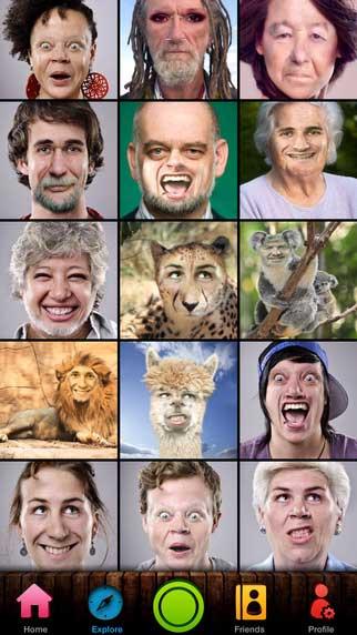 تطبيق Face Switch Lite لتحويل الوجوه لأشكال كثيرة