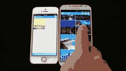 تطبيق FotoSwipe لنقل الصور والفيديو بين الأيفون والأندرويد