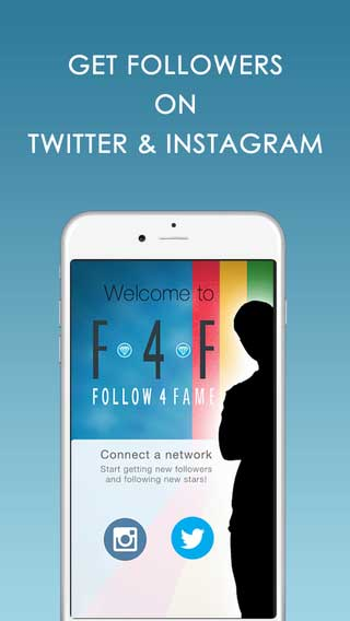 تطبيق Follow4Fame لزيادة عدد المتابعين لحسابك على تويتر وانستغرام