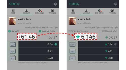 تطبيق Slidejoy لربح بطاقات ومقابل مادي من خلال هاتفك