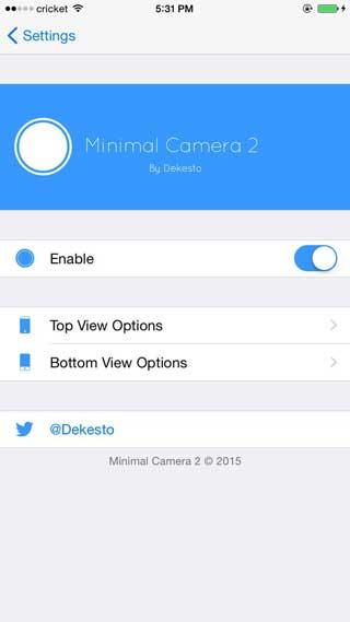 أداة Minimal Camera 2 للتحكم في شكل تطبيق الكاميرا