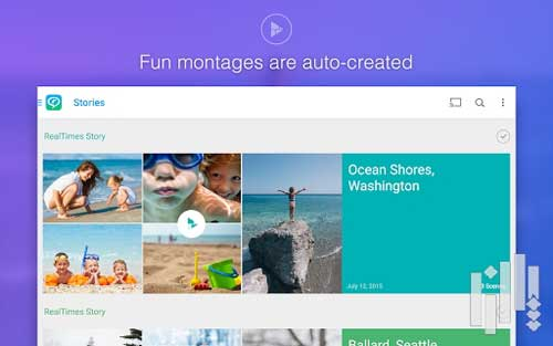 تطبيق RealTimes لإنشاء فيديو من ألبوم الصور للاندرويد - مجانا