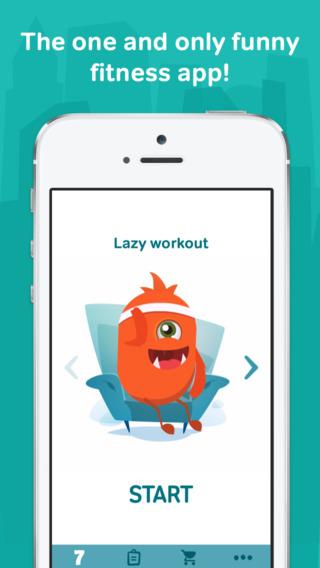تطبيق 7 minute workouts with lazy حركات رياضية - مجانا لوقت محدود