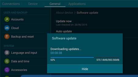 صورة لوحي سامسونج Galaxy Tab 4 8.0 يبدأ بالحصول على اندرويد 5.1.1