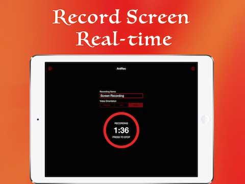 أداة AntRec – HD screen recorder لتسجيل فيديو للشاشة