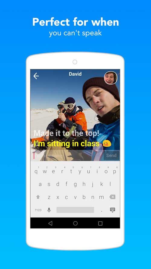 تطبيق Yahoo Livetext للدردشة بالكتابة والفيديو