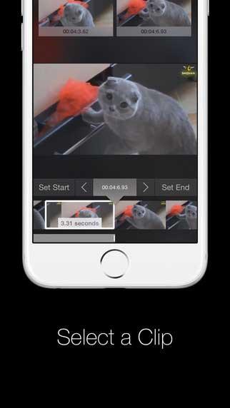 تطبيق mogif لإنشاء صور متحركة من خلال مقاطع الفيديو - مجانا لوقت محدود