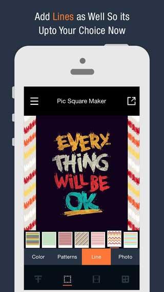 تطبيق Pic Square Maker للكتابة ونشر صورك على الانستغرام بحجمها الكامل - جديد ورائع