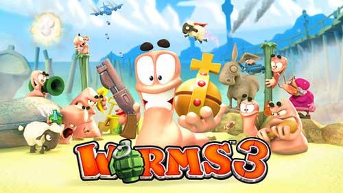 لعبة Worms™ 3 المميزة من اختيار آبل - مجانا لوقت محدود