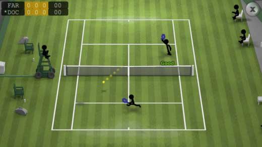 لعبة Stickman Tennis للتنس مميزة رغم بساطتها - مجانا لوقت محدود
