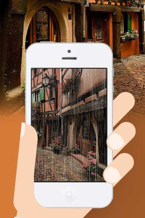 تطبيق SnowCam لإضافة مؤثرات المطر والثلج على الصور
