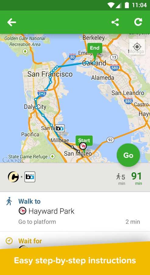 تطبيق Citymapper تصفح الخرائط في الوقت الحقيقي مع مزايا كثيرة