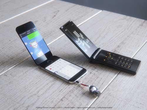 كيف سيكون شكل الأيفون لو كان بشاشة قابلة للطي؟