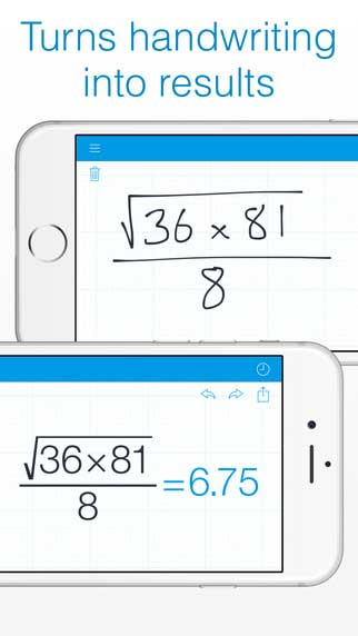 تطبيق MyScript Calculator حاسبة رياضية تفاعلية - مجانا لوقت محدود