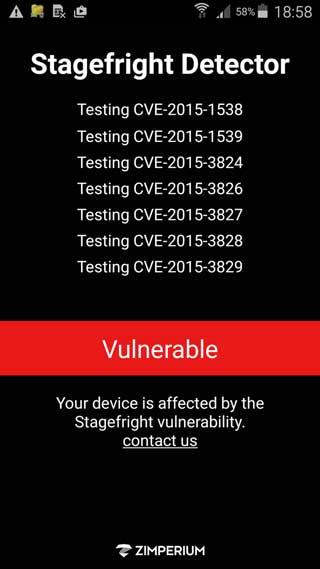 تطبيق Stagefright Detector App لفحص جهازك