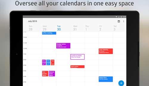 تطبيق Boxer Calendar إدارة التقوميات والمناسبات