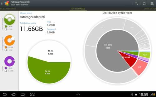تطبيق Disk Usage & Storage Analyzer لإدارة مساحة جهازك