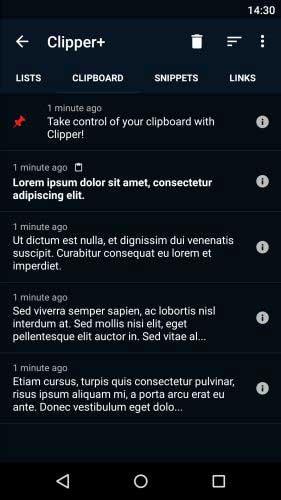 تطبيق Clipper لإدارة المنسوخات في الجهاز