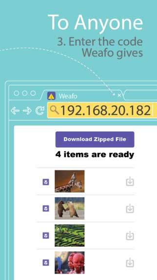 تطبيق Weafo لنقل الصور ما بين أجهزتك - مجانا لوقت محدود