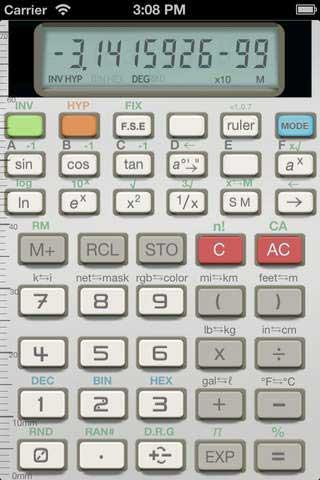 تطبيق SciCalc82 آلة حاسبة بشكلها القديم على الأيفون