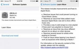 آبل تطلق رسميا التحديث الجديد iOS 8.4.1 - ما الجديد والمميزات ؟