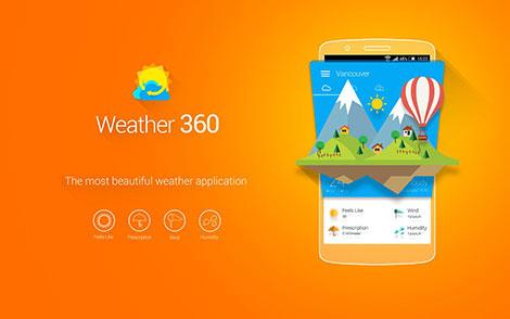تطبيق Weather 360 : تطبيق متميز لمتابعة الطقس و الأحوال الجوية - مجاني للأندرويد !