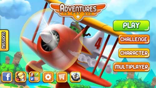 لعبة Adventures in the Air قيادة الطائرة ممتعة