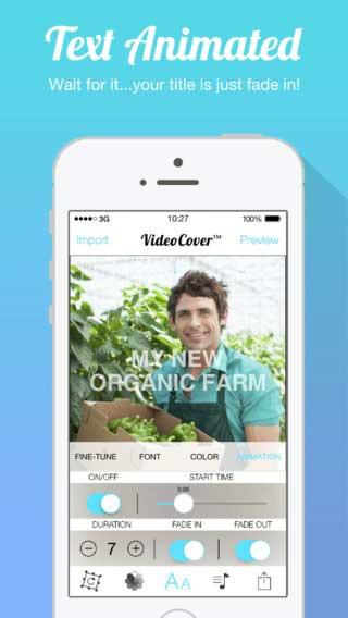 تطبيق Video Cover للكتابة وتحرير الفيديو