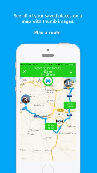 تطبيق JourneyPin لرسم خطة سفرك بدقة
