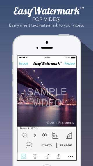 تطبيق Easy Watermark for Video للكتابة والتوقيع على الفيديو