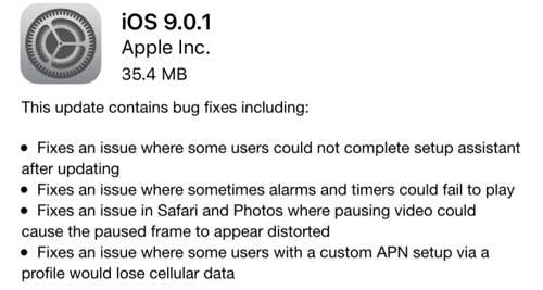 آبل تطلق رسميا التحديث الجديد iOS 9.0.1 - ما الجديد والمميزات ؟
