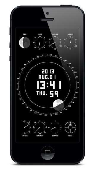 تطبيق Space & Time لعرض الوقت وتموضع القمر بتصميم جميل