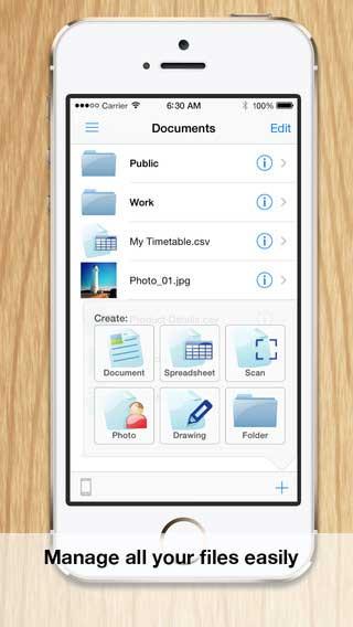تطبيق Documents لإدارة المستندات