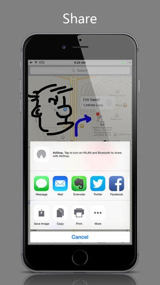 تطبيق DrawOnMp للرسم على الخرائط والكتابة عليها