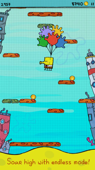 لعبة Doodle Jump نسخة سبونج بوب الرائعة