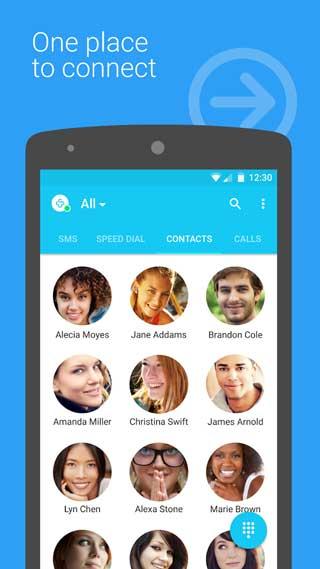 تطبيق Contacts + إدارة جهات الاتصال بمزايا كثيرة