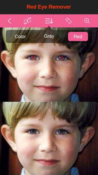 تطبيق 2 Magic Eye Color Effect للتحكم في ألوان العيون