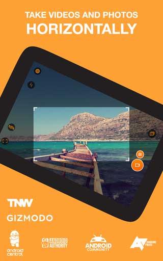 تطبيق Horizon Camera لتصوير الفيديو والصور أفقيا
