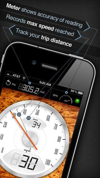 تطبيق لقياس وتسجيل السرعة مع نظام الملاحة