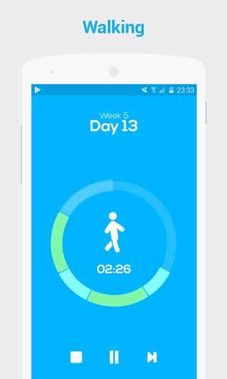 تطبيق Runmore C25K Trainer لتسجيل معلومات مشيك وجريك