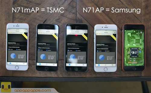 شرح طريقة معرفة نوع معالج الأيفون 6s: سامسونج أم TSMC