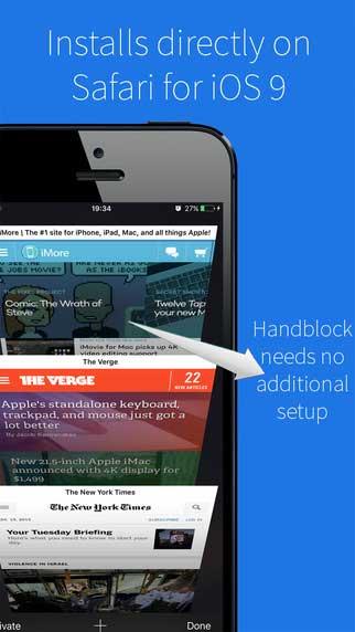تطبيق Handblock لمنع الإعلانات وتسريع تصفح الانترنت