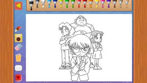 تطبيق عالم المحقق كونان - رسم وتلوين شخصيات الكرتون المميزة