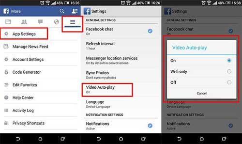 شرح إيقاف تشغيل الفيديو على تطبيق فيسبوك بشكل تلقائي