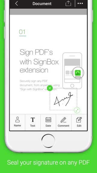 تطبيق SignBox لإنشاء وحماية توقيعك الإلكتروني