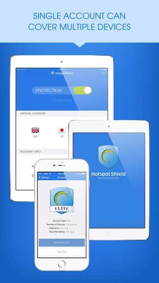 تطبيق Hotspot Shield الشهير للتخفي وتغيير iP بمزايا كثيرة