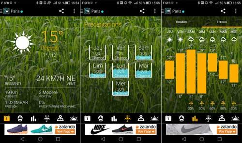تطبيق 1Weather لعرض حالة الطقس بمزايا كثيرة