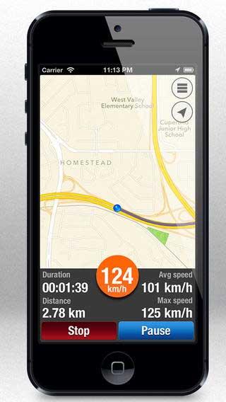 تطبيق عداد الرحلة لتسجيل رحلاتك على الخريطة