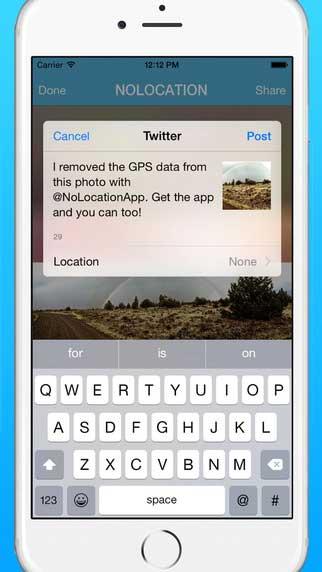 تطبيق NoLocation لالتقاط صور بدون معلومات الموقع